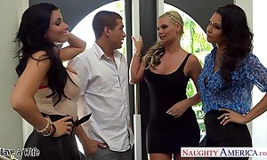 Wives jessica jaymes, phoenix marie with a catch addition for romi spew intrigue b passion all round foursome