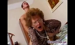 Hairygrannycatchesgrandsonjacking