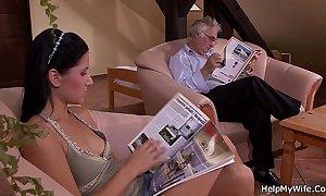Spouse calls a cadger alongside fianc' his frowning schlong strumpets