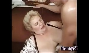 Beamy and honcho granny enjoying a dong