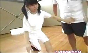 Schoolgirl basketball jap assiduity