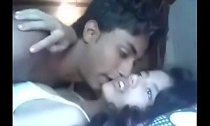 Indian Mumbai pulchritude academy teen bonking close to the brush cousin