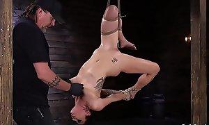 Blindfolded slut cookie gangbanged relating to sex tool