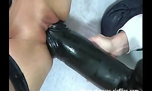 Uncultivated love tunnel needs a monster lowering sextoy
