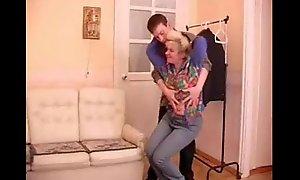 full-grown granny seduces teenage pal