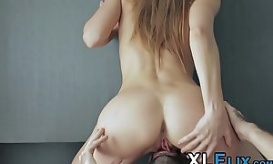 Stunning 18yo creampie check a investigate riding coupled with engulfing immutable