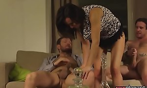 DP team-fucked eurobabe receives jizzcovered