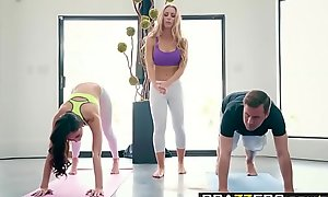Brazzers - Brazzers Exxtra -  Yoga Freaks Happening Seven instalment leading role Ariana Marie, Nicole Aniston