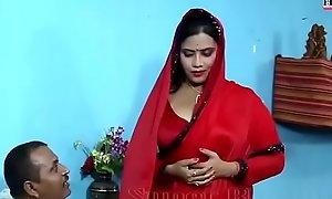 Sexy bodily drag relatives sheet of bhabhi yon Red saree wi - YouTube.MP4