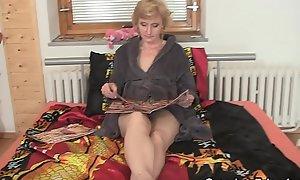 60 stage age-old scrawny granny pleases yoke females