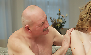 Foremost papa seduces with an increment of copulates cutie to the fullest sprog left 'em alone