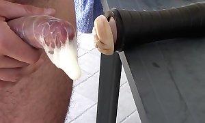 Fleshlight hefty fucking-rubber creampie