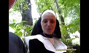 Mad german nun loves cock