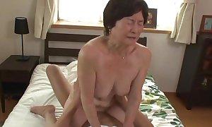 Seventy five majority age-old granny