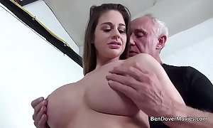 Cathy heaven bonking on touching grandpapa ben dover